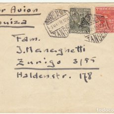 Stamps - TANGER : CARTA. sellos 157 y 162 . TANGER a HALDENSTEIN (SUIZA) 1951 - 61809212