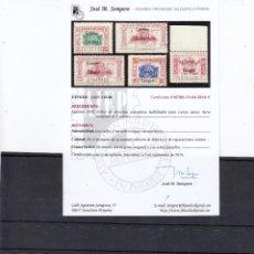 Sellos: LOTE8 CERT10 TANGER Nº 142/146 CON Y SIN CHARNELA CERTIFICADO SEMPERE. Lote 61810760