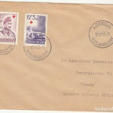 Sellos: CARTA : KOKKOLA (FINLANDIA) A TETUAN 1953. Lote 61813720