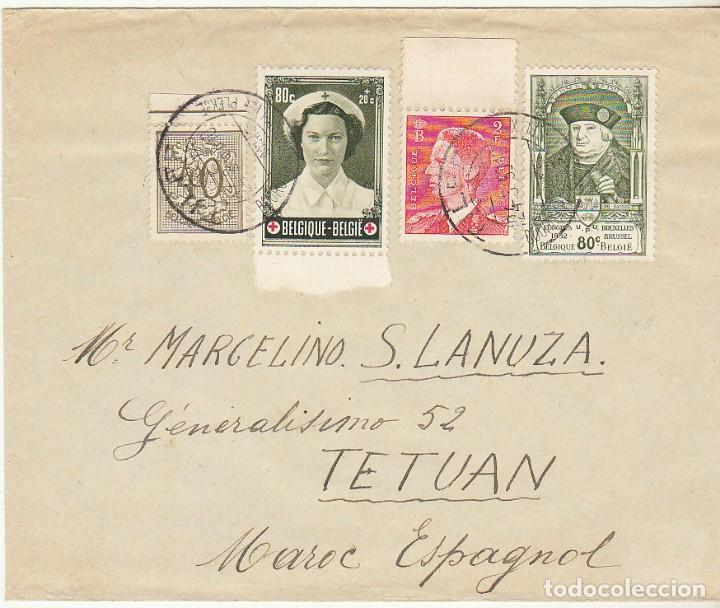 CARTA : LIEGE ( BELGICA) A TETUAN 1953 (Sellos - España - Colonias Españolas y Dependencias - África - Marruecos)