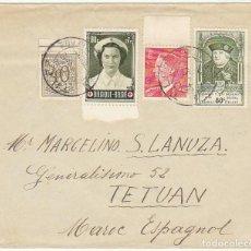 Sellos: CARTA : LIEGE ( BELGICA) A TETUAN 1953. Lote 61813964
