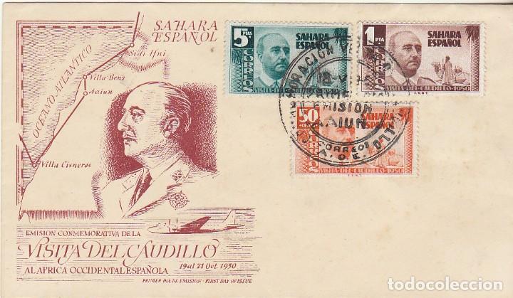 PD : 88/90. VISITA DEL GENERAL FRANCO. 1951 (Sellos - España - Colonias Españolas y Dependencias - África - Sahara)