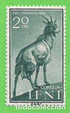 EDIFIL 154 - IFNI - PRO INFANCIA - ANIMALES DOMÉSTICOS - CABRA. (1959).** NUEVO SIN FIJASELLOS. (Sellos - España - Colonias Españolas y Dependencias - África - Ifni)