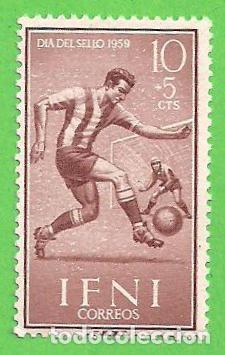 EDIFIL 156 - IFNI - DÍA DEL SELLO - FÚTBOL. (1959).* NUEVO CON SEÑAL. (Sellos - España - Colonias Españolas y Dependencias - África - Ifni)
