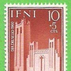 Sellos: EDIFIL 172 - IFNI - DÍA DEL SELLO - IGLESIA DE SANTA MARÍA DEL MAR. (1960).** NUEVO SIN FIJASELLOS.. Lote 63190852