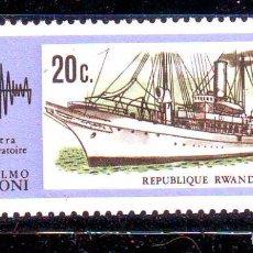 Selos: RWANDA RUANDA AÑO 1974.BARCOS.NAVAL.VALOR NUEVO SIN FIJASELLOS. A. Lote 67890121