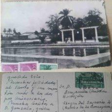 Sellos: MATASELLOS BATA. DETALLE PISCINAS. CORREO AÉREO GUINEA ECUATORIAL.. Lote 68389177
