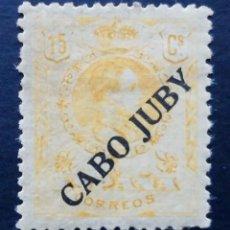 Sellos: CABO JUBY - ESPAÑA - DEPENDENCIAS POSTALES 1919, 15 CENTIMOS. Lote 68786689