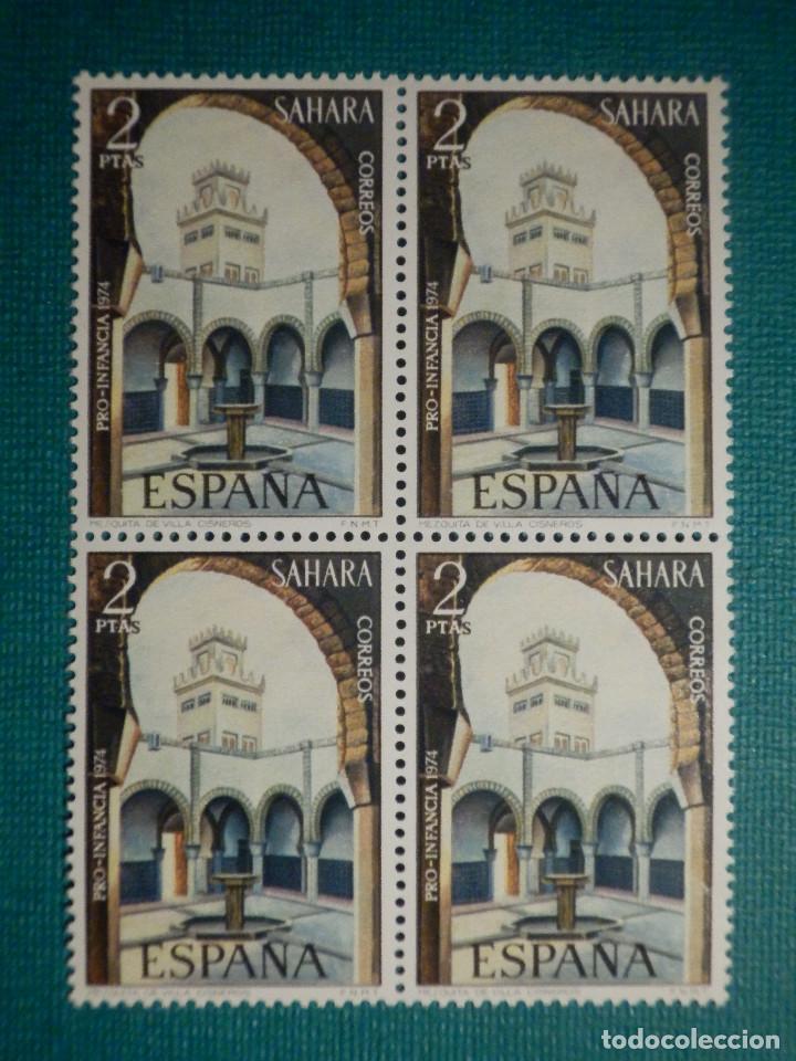 SELLO - ESPAÑA - SAHARA - PRO INFANCIA MEZQUITAS - BLOQUE DE 4 - EDIFIL 315 - 1974 - 2 PTS (Sellos - España - Colonias Españolas y Dependencias - África - Sahara)