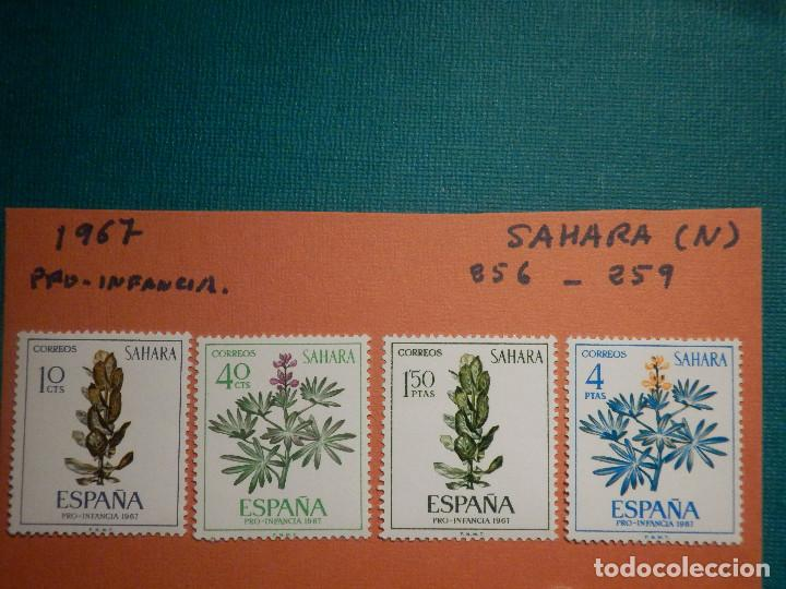 SELLO - SAHARA - SERIE PRO INFANCIA - EDIFIL 256, 257, 258 Y 259 - 1967 - 10, 40 CTS , 1,5 Y 4 PTS (Sellos - España - Colonias Españolas y Dependencias - África - Sahara)