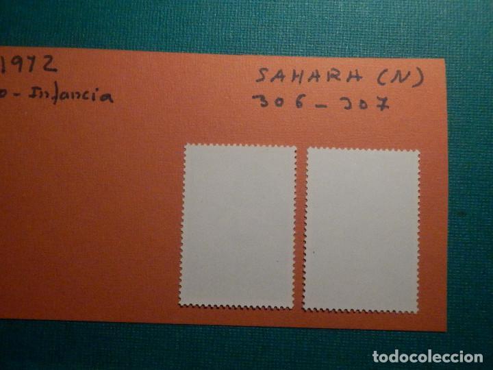 Sellos: SELLO - SAHARA - SERIE PRO INFANCIA PINTURAS - EDIFIL 306 + 307 - 1972 - 8 y 12 PTS - Foto 2 - 68880325
