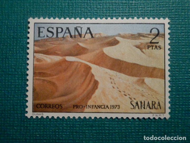 SELLO - ESPAÑA - SAHARA - PRO INFANCIA PINTURAS - EDIFIL 310 - 1973 - 2 PTS (Sellos - España - Colonias Españolas y Dependencias - África - Sahara)