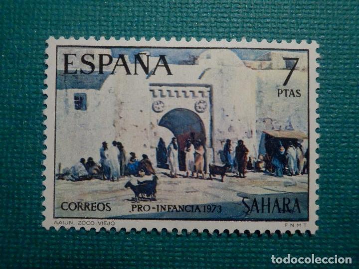SELLO - ESPAÑA - SAHARA - PRO INFANCIA PINTURAS - EDIFIL 311 - 1973 - 7 PTS (Sellos - España - Colonias Españolas y Dependencias - África - Sahara)