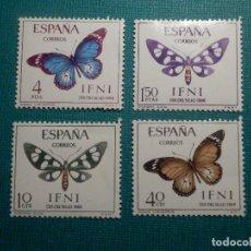 Sellos: SELLO - IFNI - SERIE DIA DEL SELLO - EDIFIL 221, 222, 223 Y 224 - 1966 - 10, 40 CTS, 1,5 Y 4 PTS . Lote 68881445