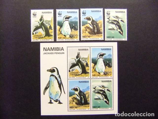 NAMIBIA NAMIBIE 1997 PROTECTION DE LA FAUNE WWF YVERT 790 / 93 + BLOC 28 ** MNH (Sellos - España - Colonias Españolas y Dependencias - África - Otros)