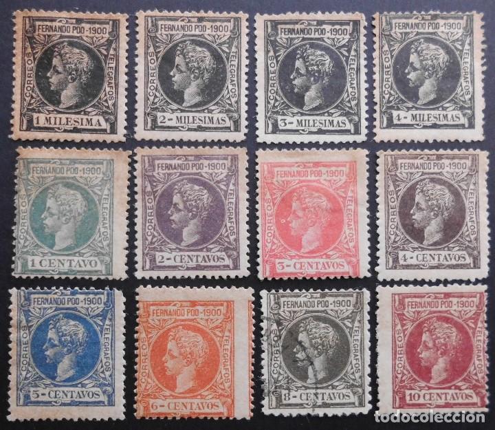 FERNANDO POO - ESPAÑA - DEPENDENCIAS POSTALES 1900 (Sellos - España - Colonias Españolas y Dependencias - África - Fernando Poo)