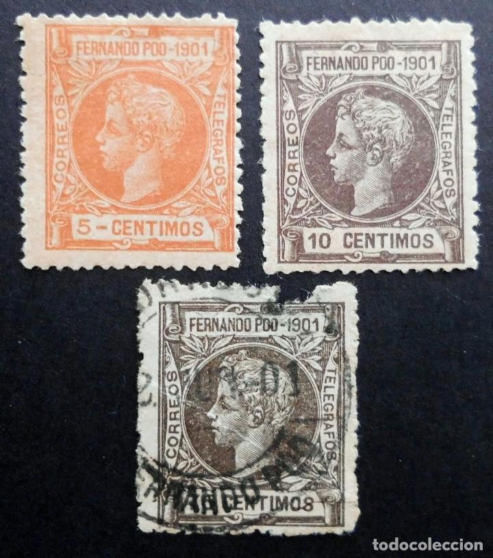 FERNANDO POO - ESPAÑA - DEPENDENCIAS POSTALES 1901 (Sellos - España - Colonias Españolas y Dependencias - África - Fernando Poo)