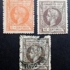 Sellos: FERNANDO POO - ESPAÑA - DEPENDENCIAS POSTALES 1901. Lote 68949837