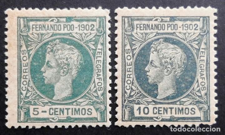 FERNANDO POO - ESPAÑA - DEPENDENCIAS POSTALES 1902 (Sellos - España - Colonias Españolas y Dependencias - África - Fernando Poo)