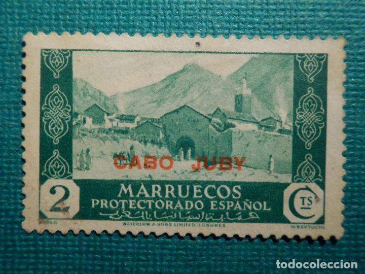 SELLO - ESPAÑA - CABO JUBY - SELLOS DE MARRUECOS - 2CTS. - EDIFIL 68 - VERDE - 1935-1936 (Sellos - España - Colonias Españolas y Dependencias - África - Cabo Juby)