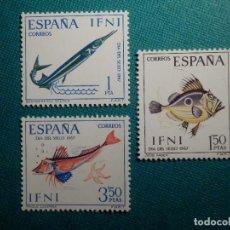 Sellos: SELLO - ESPAÑA, IFNI - SERIE DÍA DEL SELLO - EDIFIL 230, 231 Y 232 - 1967 - 1, 1,50 Y 3,50 PTS. Lote 68957697