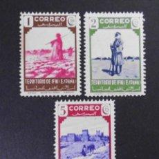 Sellos: IFNI - ESPAÑA - COLONIAS ESPAÑOLAS Y DEPENDENCIAS POSTALES 1943. Lote 69022253