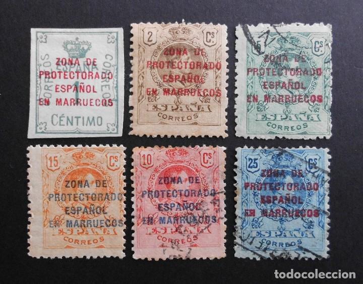 MARRUECOS - ESPAÑA - COLONIAS ESPAÑOLAS Y DEPENDENCIAS POSTALES 1921 - 1927 (Sellos - España - Colonias Españolas y Dependencias - África - Marruecos)