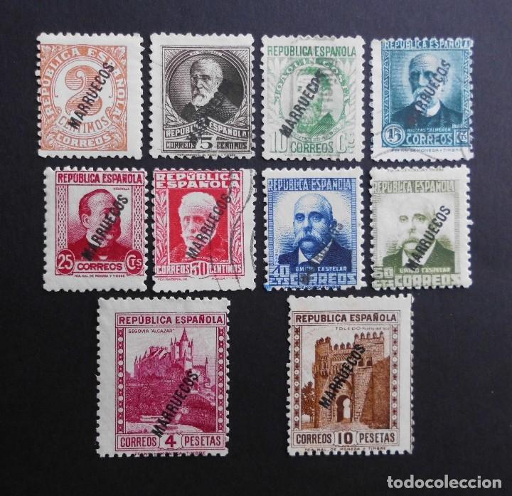 TANGER - ESPAÑA - COLONIAS ESPAÑOLAS Y DEPENDENCIAS POSTALES 1933 - 1938 (Sellos - España - Colonias Españolas y Dependencias - África - Tanger)