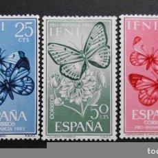 Sellos: IFNI - ESPAÑA - COLONIAS ESPAÑOLAS Y DEPENDENCIAS POSTALES 1963. Lote 69653997