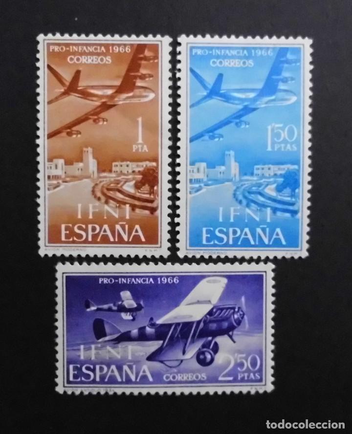 IFNI - ESPAÑA - COLONIAS ESPAÑOLAS Y DEPENDENCIAS POSTALES 1966 CORREO AEREO (Sellos - España - Colonias Españolas y Dependencias - África - Ifni)