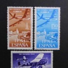 Sellos: IFNI - ESPAÑA - COLONIAS ESPAÑOLAS Y DEPENDENCIAS POSTALES 1966 CORREO AEREO. Lote 69654497