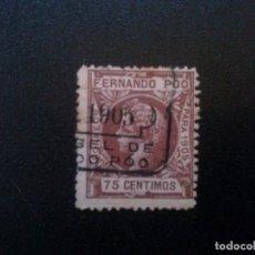 Sellos: FERNANDO POO Nº 145 75 CTS 1905 MATASELLADO. Lote 70063413