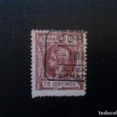 Sellos: FERNANDO POO Nº 145 75 CTS 1905 MATASELLADO. Lote 70063497