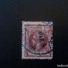 Sellos: FERNANDO POO Nº 145 75 CTS 1905 MATASELLADO. Lote 70063549