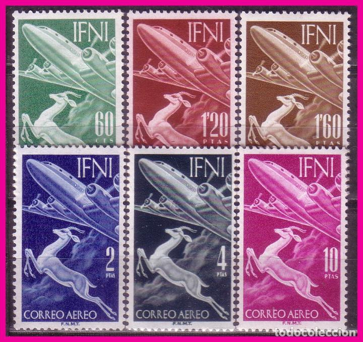 IFNI 1953 SERIE BÁSICA. EDIFIL Nº 89 A 94 * (Sellos - España - Colonias Españolas y Dependencias - África - Ifni)