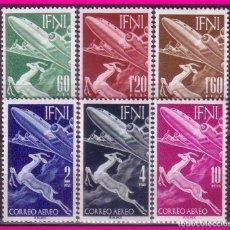 Sellos: IFNI 1953 SERIE BÁSICA. EDIFIL Nº 89 A 94 * . Lote 70488069