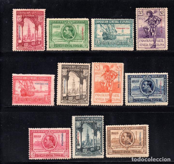 FERNANDO POO 168/78* - AÑO 1929 - EXPOSICIONES DE SEVILLA Y BARCELONA (Sellos - España - Colonias Españolas y Dependencias - África - Fernando Poo)