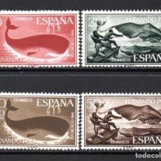Sellos: FERNANDO POO 192/95** - AÑO 1960 - FAUNA MARINA - BALLENAS - DIA DEL SELLO. Lote 74929343
