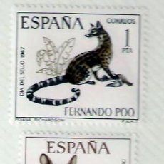 Sellos: SELLOS FERNANDO POO 1967 - DIA DEL SELLO. Lote 75839931