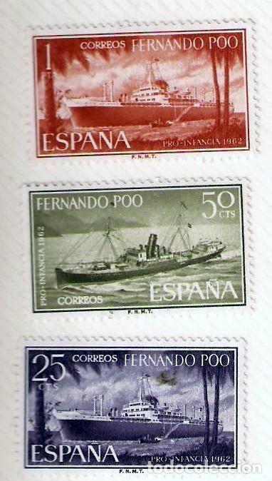 SELLOS FERNANDO POO 1962 - PRO INFANCIA (Sellos - España - Colonias Españolas y Dependencias - África - Fernando Poo)