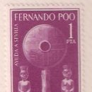 Sellos: SELLO FERNANDO POO 1963 - AYUDA A SEVILLA. Lote 75843511