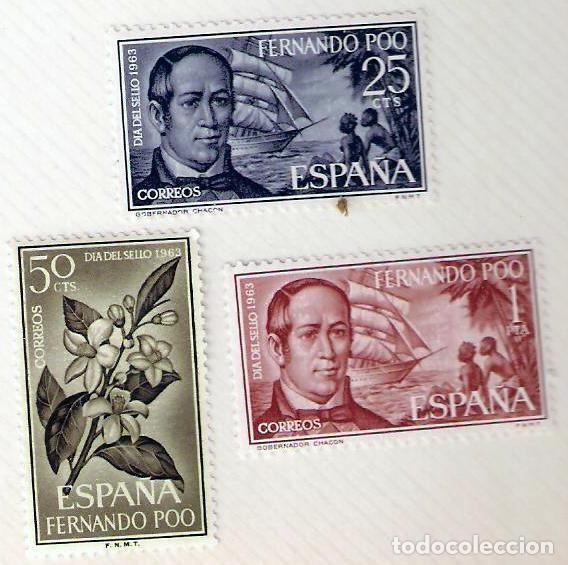 SELLOS FERNANDO POO 1964 - DIA DEL SELLO DE 1963 (Sellos - España - Colonias Españolas y Dependencias - África - Fernando Poo)