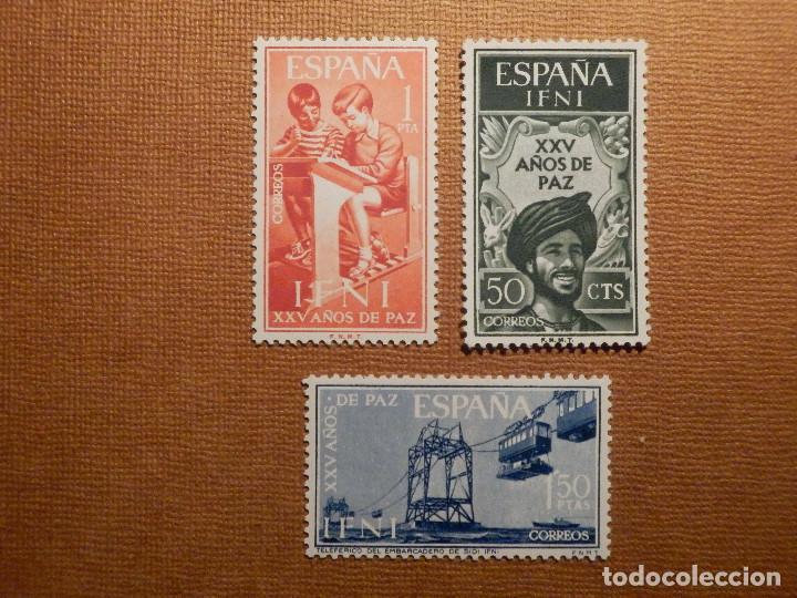 SELLO - ESPAÑA - IFNI - 25 AÑOS DE PAZ - EDIFIL 209, 210 Y 211 - 1965 - SERIE DE 3 VALORES (Sellos - España - Colonias Españolas y Dependencias - África - Ifni)