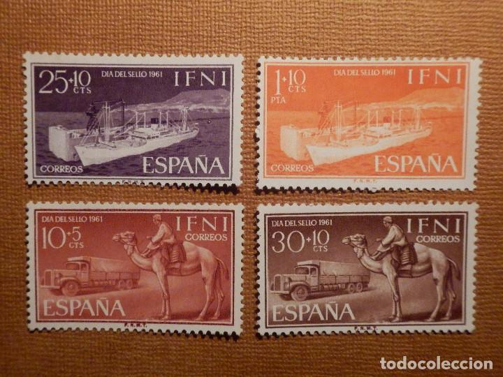 SELLO - ESPAÑA - IFNI - DIA DEL SELLO - EDIFIL 183, 184, 185 Y 186 - 1961 - SERIE 4 VALORES (Sellos - España - Colonias Españolas y Dependencias - África - Ifni)