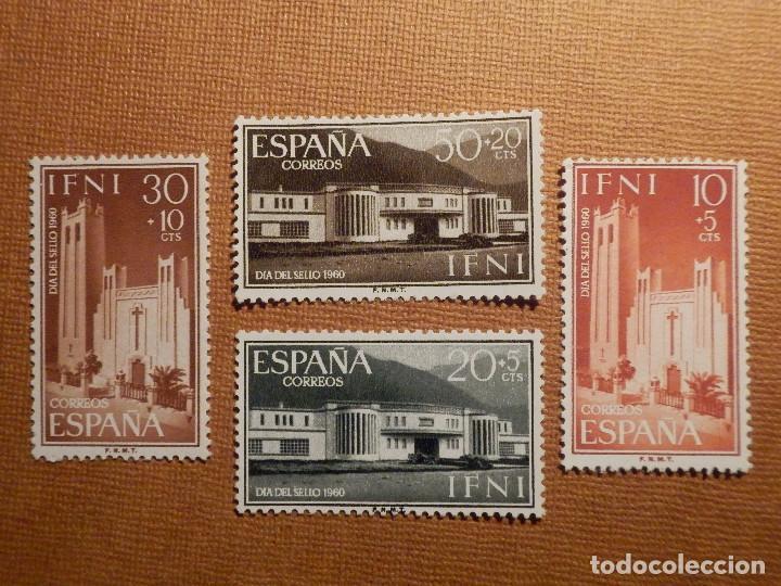 SELLO - ESPAÑA - IFNI - DÍA DEL SELLO - EDIFIL 172, 173, 174 Y 175 - 1960 - 4 VALORES (Sellos - España - Colonias Españolas y Dependencias - África - Ifni)