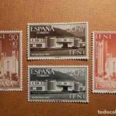 Sellos: SELLO - ESPAÑA - IFNI - DÍA DEL SELLO - EDIFIL 172, 173, 174 Y 175 - 1960 - 4 VALORES. Lote 75943559