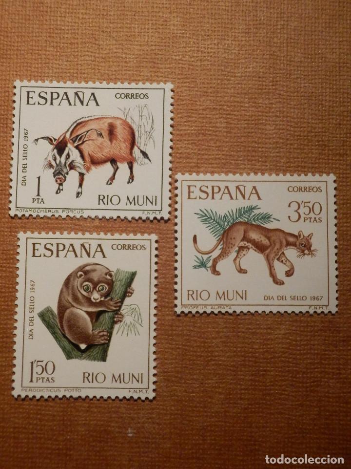 SELLO - ESPAÑA - RIO MUN I- EDIFIL 80, 81 Y 82 - DÍA DEL SELLO - 1967 - SERIE DE 3 VALORES (Sellos - España - Colonias Españolas y Dependencias - África - Río Muni)