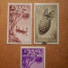 Sellos: SELLO - ESPAÑA - FERNANDO POO - EDIFIL 223, 224 Y 225 - PRO INFANCIA - 1964, SERIE DE 3 VALORES. Lote 76101195