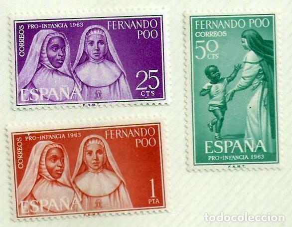SERIE DE SELLOS FERNANDO POO 1963 - PRO INFANCIA (Sellos - España - Colonias Españolas y Dependencias - África - Fernando Poo)