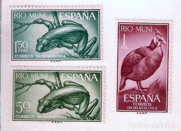SERIE SELLOS RIO MUNI 1964 - DIA DEL SELLO - FAUNA (Sellos - España - Colonias Españolas y Dependencias - África - Río Muni)